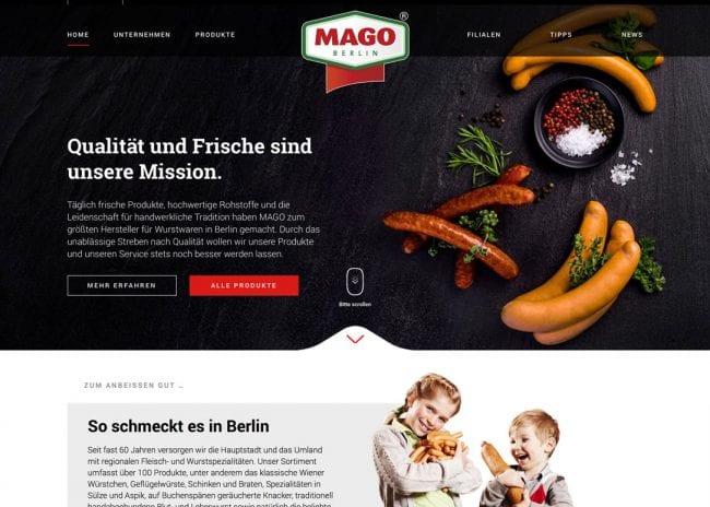 MAGO Webseite
